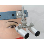 6.0x Magnification Professional Loupes with Comfortable Headband for Dental, Surgical, Jeweler, or Hobby | Adjustable Pupil Distance Model #DH6HB
