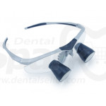 3.5x Magnification Customized Dental TTL(Through The Lens) Loupes with Silver BP Sports Frame | Send Us Your Pupil Distance and Working Distance, We'll Give You A Custom Fit