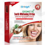 Grinigh COCONUT OIL Whitestrips Dental Professional Effects Teeth Whitening Strips Kit, 14 Treatments - Lasts 6 Months & Beyond - Non-Slip White Strips with a Fresh COCONUT Fragrance
