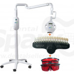 Dental Teeth Whitening Machine 8 LED Lights with 20 Colors Shade Guide for Clinic and Beauty Salon