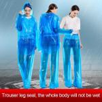 10pcs Disposable Split Raincoat for Adults Men Women Waterproof Rain Ponchos PVC Raincoats with Hood and Sleeves Lightweight Raincoats