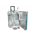 Deluxe Portable Dental Delivery Turbine Unit with 6 Holder Air Compressor Suitable Case and Handpiece Tubing GU-P206