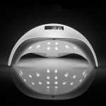 Grinigh SUN5 48W Dual UV LED Nail Lamp Nail Dryer Gel Polish Curing Light with Bottom 30s/60s Timer LCD display -EU Plugs ( UVS5WHB )