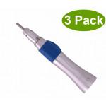 Dental Low Speed Straight Handpiece Radio 1:1 Latch Chuck 3 Pack SK-414802