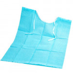 "Grinigh (100 Count) 3-Ply Disposable Dental Bibs with Individual Ties | 13 x 18"" Blue Color Waterproof Sheets 