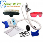 Dental LED Teeth Whitening System Clip on Desktop Light with 2 goggles and 20 Colors Shadeguide