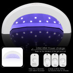 Grinigh Sunone 48W Professional Nail Lampe LED Manicure UV Lamp Nail Dryer for UV Gel LED Gel Nail Machine Infrared Sensor -EU Plugs ( UVSOWHB )