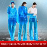 10pcs Disposable Split Raincoat for Adults Men Women Waterproof Rain Ponchos PVC Raincoats with Hood and Sleeves Lightweight Raincoats