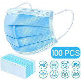 100 Pcs Disposable Medical Mask, 3 Ply Disposable Earloop Mouth Face Masks Breathable and Comfortable for Blocking Dust Air Pollution Protection and Personal Health
