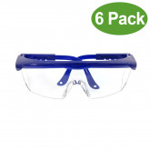 Dental Lab Goggles Anti-fog Avoid all kinds of splash Eye Safety Spectacles for Dental or Medical Use 6 Pack - Blue Color